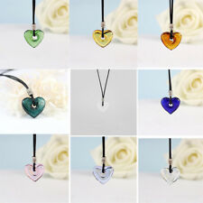 Charm Handmade Heart Glass Pendant Necklace Essential Oil Diffuser Perfume