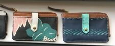 NWT! FOSSIL KEELY CARD CASE ZIP COIN PURSE WALLET Various