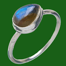 LABRADORITE SOLID 925 STERLING SILVER STATEMENT DESIGNER RING SIZE 5,6,7,8,9,10