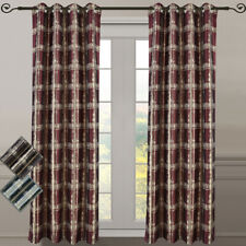 """Abstract Jacquard Studio Grommet-Top Window Curtains, Set of 2 104"""" Wide Panels"""