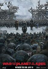 WAR FOR THE PLANET OF THE APES 2017 MOVIE POSTER PRINT #3 A6+A4+A3+SUPER A3