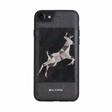 3D Animal Pattern Leather Slim Shockproof Case Back Cover For  iPhone 6S 7 Plus