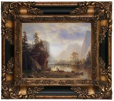 Bierstadt Yosemite Valley Wood Framed Canvas Print Repro 8x10