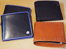 New Mens Fred Perry Billfold Leather Wallet in either black or brown