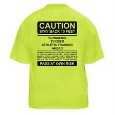 YORKSHIRE TERRIER FUNNY DOG LOVER T-SHIRT - CAUTION-Sizes Small through 5XL