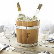 Personalized Borown Wood and Metal Rustic Ice Bucket
