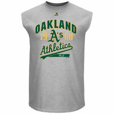 Oakland Athletics Majestic Flawless Victory Sleeveless T-Shirt - Gray - MLB