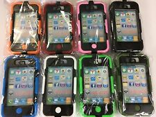 Hybrid Rugged Shockproof Silicone Hard Case Cover belt clip IPod Touch 4G 4GS