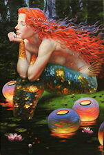 Gifts Art wall Fantasy Mermaid oil painting HD printed on canvas Home Decor VN54