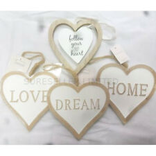 Wooden Hanging Hearts Vintage Style Heart Shabby Chic Home Decoration Gift