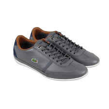 Lacoste Misano Sport 317 1 Mens Gray Leather Lace Up Lace Up Sneakers Shoes