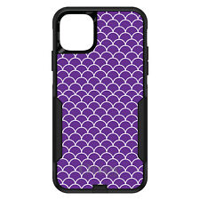 OtterBox Commuter for iPhone 5 SE 6 S 7 8 PLUS X Purple White Scalloped Pattern