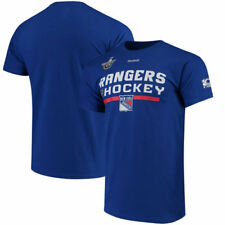 New York Rangers Reebok NHL Sc Playoff Center Ice  T-Shirt - Blue