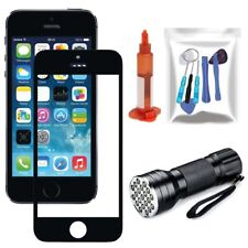Black Front Touch Screen Glass Lens Replacement Repair Tools Kit For iPhone 5 5s