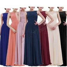 Long Chiffon Lace Evening Formal Party Ball Gown Prom Bridesmaid Dress Cocktail