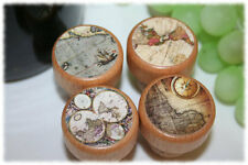 Antique World Map Wine Stoppers- Old World Wine Stopper- Globe Wine Stopper