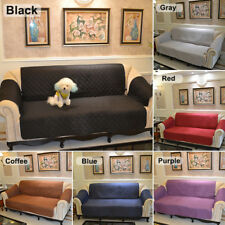 1/3 seat Quilted Sofa Chair Pet Dog Kids Furniture Protector Slip Cover 4 Colors