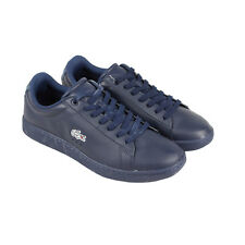 Lacoste Carnaby Evo Wmp Spm Mens Blue Leather Sneakers Lace Up Sneakers Shoes