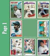 Jim Rice Topps, Donruss, Fleer, Score, Upper Deck, Burger King or Leaf - NM/MT