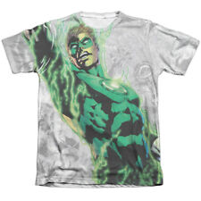 Green Lantern Light Em Up (Front Back Print) Mens Sublimation Poly Cotton Shirt