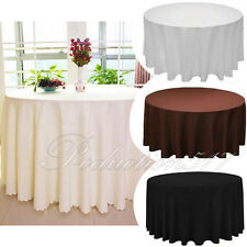 High Quality 70/90 in. Round Polyester Seamless Tablecloth Wedding Restaurant