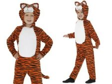 Childs Wild Tiger Costume Jungle Animal Kids Fancy Dress Outfit