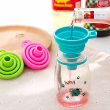 Foldable Practical Collapsible Silicone Funnel Hopper Kitchen Tool Gadget