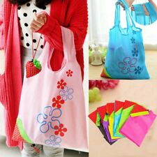Eco Nylon Storage Foldable Handbag Strawberry Shopping Tote Bags Reusable Bag