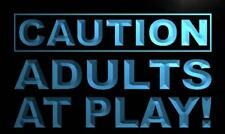 """16""""x12"""" m537-b Caution Adults at Play Neon Sign"""