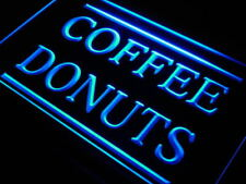 """16""""x12"""" j658-b Coffee Donuts Cafe OPEN Dispaly Neon Sign"""