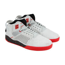 Supra Skytop Iii Mens Gray Suede High Top Lace Up Sneakers Shoes