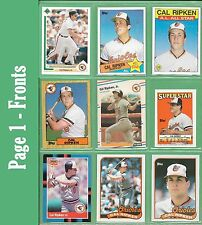 Cal Ripken Jr   Topps, Fleer or Donruss cards  - Baltimore Orioles - NM/MT
