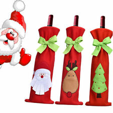 Christmas Decorations Red Santa Tree Wine Wine Bottle Cover Bags Dinner Party