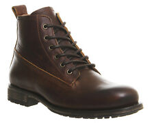 Mens Ask the Missus Cape Lace Boots BROWN LEATHER Boots *Ex Display*