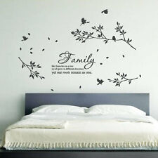 Family Tree Birds Flower Art Wall Stickers Quotes Wall Decals Wall Decorations