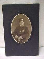 Antique Cabinet Photo of LFD (Fire Dept.) Gentleman-Black & White    -15329C