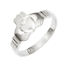 925 Sterling Silver Shiny Celtic Claddagh Ring