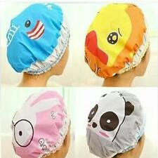 Bathroom Waterproof Shower Hat Elastic Band Hats Bath Cap Cute Cartoon Animal