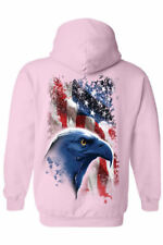 Pullover Hoodie USA Flag American Icon Bald Eagle Pride Patriot Stars & Stripes