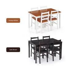 Ikayaa Modern 5pcs Dining Table Set Kitchen Dinette Table And 4 Chairs Set U7T3