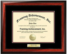 College Diploma Frame Engraved University Degree Graduation Gift Certificate