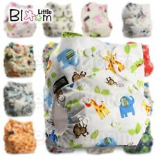 Baby Washable One Size Cloth Nappy Reusable Pocket Diaper Inserts Available Suit