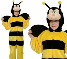 Bumble Bee Costume Kids Insect Black Yellow Jumpsuit Boys Girls Fancy Dress