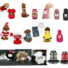 Halloween Christmas Pet Small Dog Cat Puppy Costume Outfit Coat Sweater Clothes