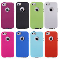 Shockproof Hybrid Heavy Duty Rugged Silicone Hard Case Cover for iPhone 5 5S SE