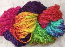 cotton/rayon sparkle and dyed yarn 25 yds confetti trim collages art yarn