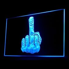 220007 Finger Back Off Man Cave glory Piss Easy Off Cool Exhibit LED Light Sign