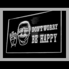 220072 Don't Worry Be Happy Gift Shop Fine Enjoy Quote Exhibit LED Light Sign