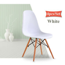 4PCS Wood Eiffel Retro Chair DSW DSR Lounge Dining Table Chairs Set Home Office