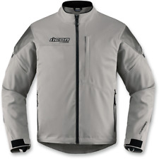 Mens Icon Gray Long Sleeve Textile Tarmac Motorcycle Riding Street Racing Jacket